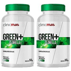 Green+ Clorella - 2 unidades de 100 Cápsulas - Clinic Mais