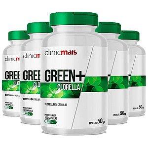 Green+ Clorella - 5 unidades de 100 Cápsulas - Clinic Mais