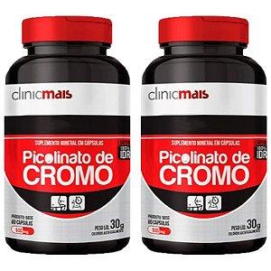 Picolinato de Cromo - 2 unidades de 60 Cápsulas - Clinic Mais