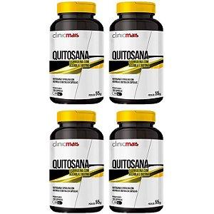 Quitosana - 4 unidades de 100 Cápsulas - Clinic Mais