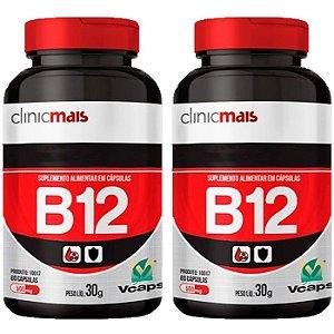 Vitamina B12 - 2 unidades de 60 Cápsulas - Clinic Mais