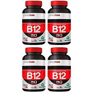Vitamina B12 - 4 unidades de 60 Cápsulas - Clinic Mais