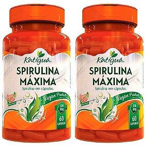 Spirulina Máxima - 2 unidades de 60 Cápsulas - Katigua