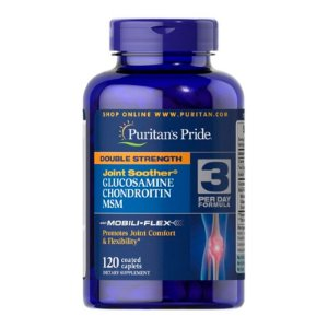 Double Strength Glucosamine Chondroitin & MSM - 120 Tabletes - Puritan's Pride
