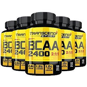 BCAA 2400 2:1:1 - 5 unidades de 120 Cápsulas - Katigua Transcend Sport