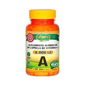 Vitamina A 8000 UI - 60 Cápsulas - Unilife