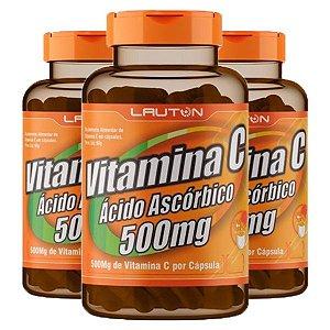 Vitamina C 500mg - 3 unidades de 60 Cápsulas - Lauton