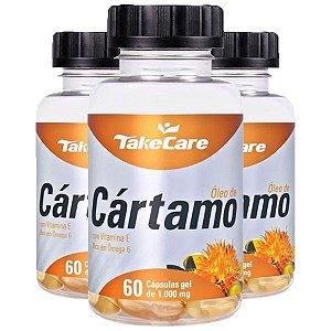 Óleo de Cártamo com Vitamina E - 3 unidades de 60 Cápsulas - Take Care
