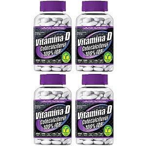 Vitamina D3 (Colecalciferol) - 4 unidades de 120 Tabletes - Lauton