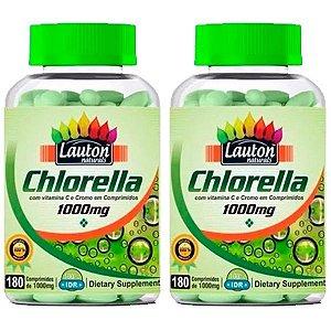 Clorela (Chlorella 1000mg) - 2 unidades de 180 Comprimidos - Lauton