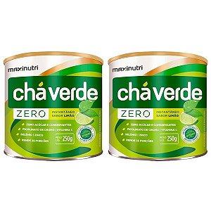 Chá Verde Solúvel Limão Zero - 2 unidades de 250 gramas - Maxinutri