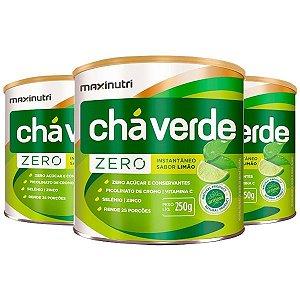 Chá Verde Solúvel Limão Zero - 3 unidades de 250 gramas - Maxinutri