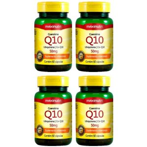 Coenzima Q10 50mg - 4 unidades de 60 cápsulas - Maxinutri