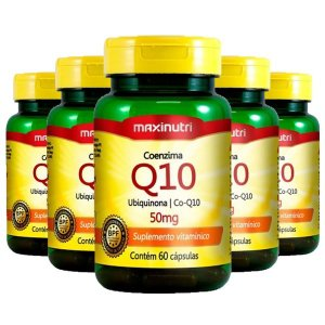 Coenzima Q10 50mg - 5 unidades de 60 cápsulas - Maxinutri