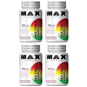 Multimax Complex - 4 unidades de 90 Cápsulas - Max Titanium