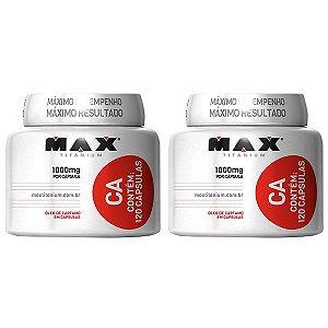 CA Óleo de Cártamo - 2 unidades de 120 Cápsulas - Max Titanium