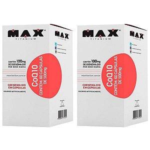 CoQ10 Coenzima Q10 - 2 unidades de 60 Cápsulas - Max Titanium