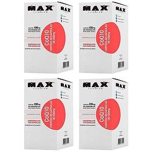 CoQ10 Coenzima Q10 - 4 unidades de 60 Cápsulas - Max Titanium