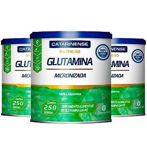 Glutamina Micronizada - 3 unidades de 250 Gramas - Catarinense