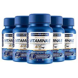Vitamina E 400 UI - 5 unidades de 30 Cápsulas - Catarinense