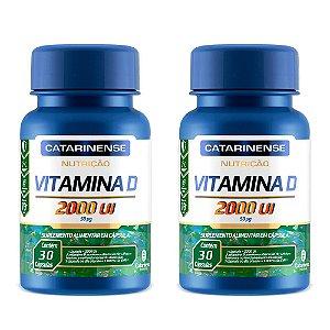 KitVitamina D 2000 UI Catarinense Vitamina Do Sol 60 Cáps