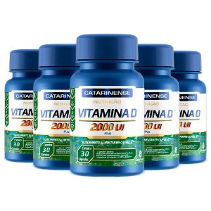Kit Vitamina D 2000 UI Catarinense Vitamina Do Sol 150 Cáps
