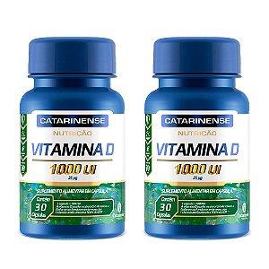 Vitamina D 1000 UI - 2 unidades de 30 Cápsulas - Catarinense