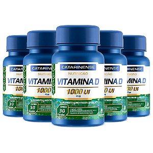 Vitamina D 1000 UI - 5 unidades de 30 Cápsulas - Catarinense