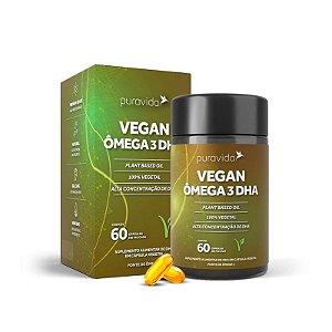 Vegan Ômega 3 DHA - 60 Cápsulas - Puravida