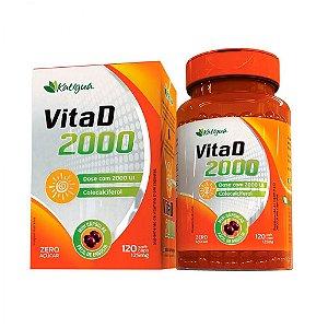 Vitamina D 2000 UI - 120 Cápsulas - Katigua