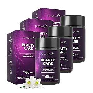 Beauty Care - 3 unidades de 60 Cápsulas - Puravida