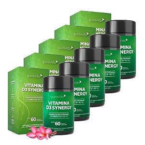 Vitamina D3 Synergy - 5 unidades de 60 Cápsulas - Puravida