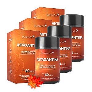 Astaxantina - 3 unidades de 60 Cápsulas - Puravida