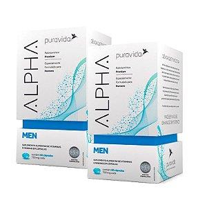 Polivitamínico Alpha Men - 2 unidades de 60 Cápsulas - Puravida