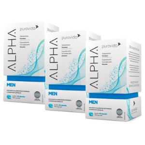 Polivitamínico Alpha Men - 3 unidades de 60 Cápsulas - Puravida