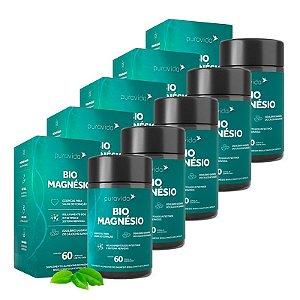 Bio Magnésio - 5 unidades de 60 Cápsulas - Puravida