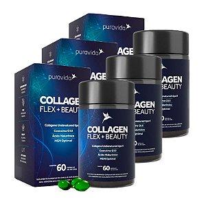 Collagen Flex + Beauty - 3 unidades de 60 Cápsulas - Puravida