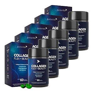 Collagen Flex + Beauty - 5 unidades de 60 Cápsulas - Puravida
