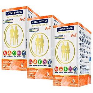 Polivitamínico A-Z - 3 unidades de 60 Cápsulas - Catarinense