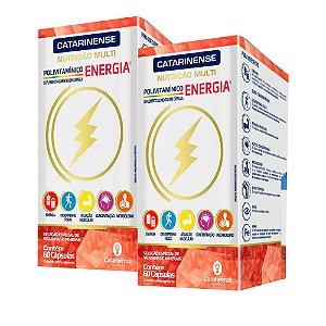 Polivitamínico Energia - 2 unidades de 60 Cápsulas - Catarinense