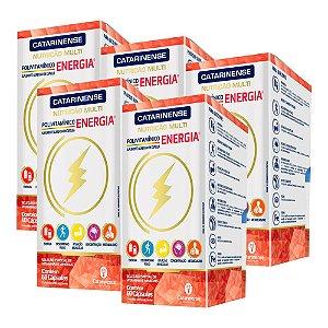 Polivitamínico Energia - 5 unidades de 60 Cápsulas - Catarinense