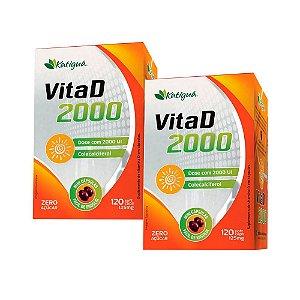 Vitamina D 2000 UI - 2 unidades de 120 Cápsulas - Katigua