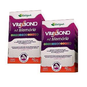 Polivitamínico Vitabond A-Z Memória - 2 unidades de 60 Cápsulas - Katigua