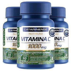 Vitamina C 1000mg - 3 unidades de 30 Comprimidos - Catarinense