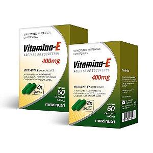 Vitamina E 400mg - 2 unidades de 60 Cápsulas - Maxinutri