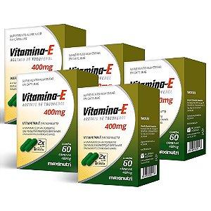 Vitamina E 400mg - 5 unidades de 60 Cápsulas - Maxinutri