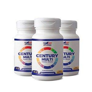 Polivitamínico Century Multi - 3 unidades de 30 Comprimidos - VitGold