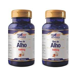 Óleo de Alho 1500mg - 2 unidades de 100 Cápsulas - VitGold