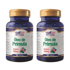 Óleo de Prímula GLA/LA - 2 unidades de 100 Cápsulas - VitGold