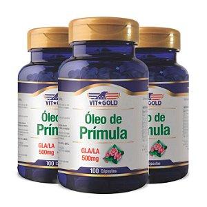 Óleo de Prímula GLA/LA - 3 unidades de 100 Cápsulas - VitGold